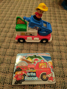 Little People Fire Truck and Book Cambridge Kitchener Area image 1