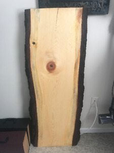 Live Edge pine wood slab for desk or table, local wood