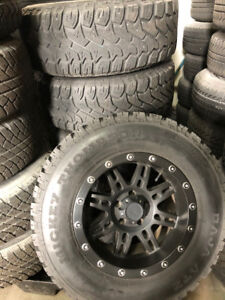 USED JEEP WRANGLER PRO-COMP WHEELS AND MICKEY A/T TIRES