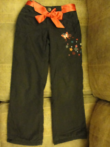 Girls fleece lined pants, size 6-7
