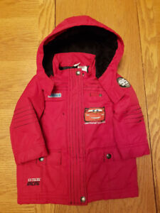 Lightning McQueen winter jacket; 18-24 mo