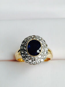 Sapphire and Diamond Lace Ring