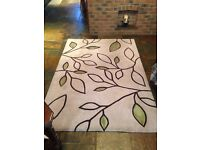 Modern Creme/Green Rug for sale!!