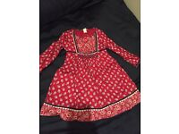 Girls monsoon red dress 3-4 years