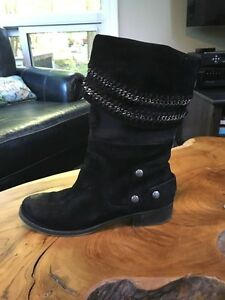 Black Suede Nine West Boots