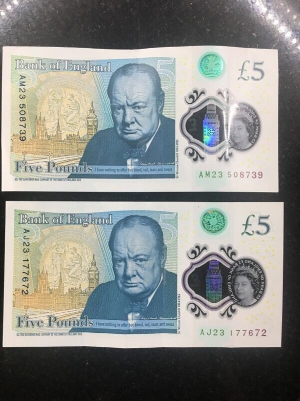 5 pound note extremely rare