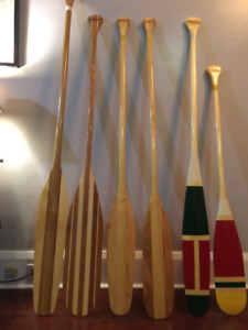 Canoe Paddles -hand crafted $75 each