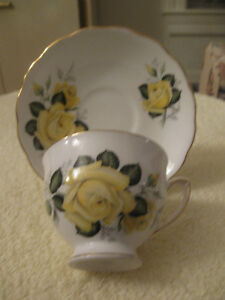 EXQUISITE VINTAGE BONE CHINA COLCLOUGH CUP and SAUCER