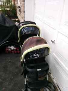 Graco 2 seat stroller, easy fold up