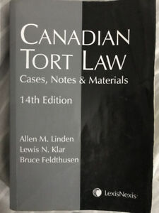 Canadian Tort Law (cases, notes and material)