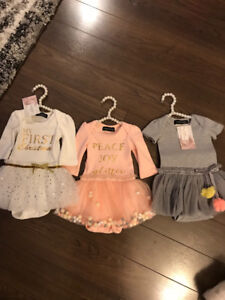 3-Olivia Rose Collection Dresses 3-6 Months