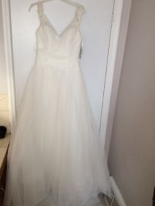 Ball Gown/A-line Wedding Dress, Cathedral Veil - Never Worn