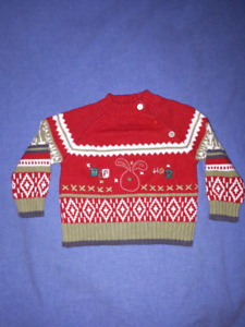 3 Beautiful Cotton Baby Boys Dressy Christmas Sweaters 6mts EC