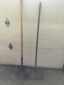 Hand tools Rake and Shovel  located in Salmon Arm
