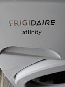 Frigidaire Affinity front load washing machine with pedestal.
