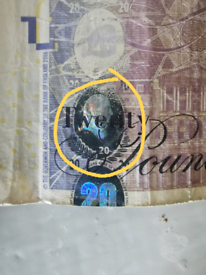 Adam Smith £20 missprint note