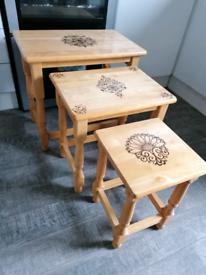 Bespoke nest of 3 tables