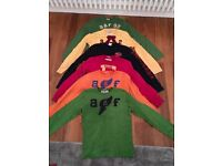 BUNDLE OF 6 BOYS ABERCROMBIE KIDS LONG SLEEVE TOPS SIZE LARGE AGE 10 - 12 YEARS