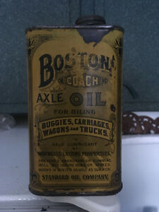 Boston Coach oil tin