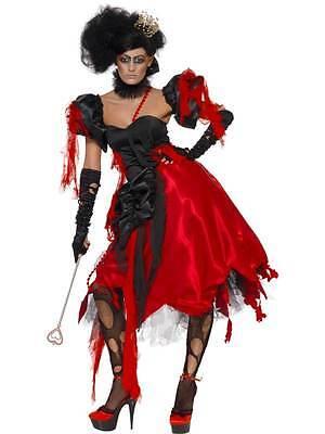 QUEEN OF HEARTS COSTUME, HALLOWEEN  FANCY DRESS, - Zombie Queen Of Hearts Halloween Kostüm