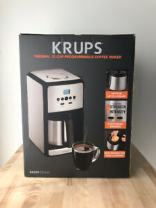 Coffee maker New KRUPS, 12-Cup Programmable Thermal New