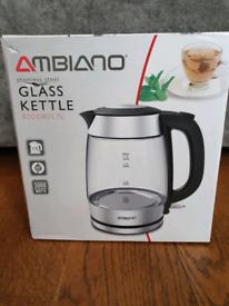 New glass kettle
