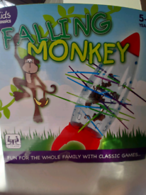 Kids camping game. Falling monkey. 🙊