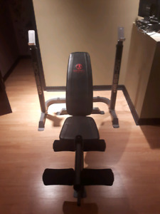 Bench Press with Weight Bar Stand
