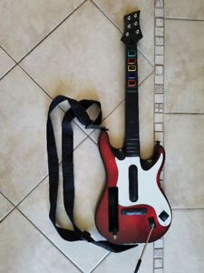 Wireless Guitar for Wii Guitar Hero and Rock Band Games Color Bl