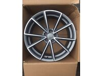 """BRAND NEW 20"""" AUDI RS4 S LINE STYLE ALLOYS- TT A5 A6 A7 A8 SEALED IN BOXES FULL SET"""