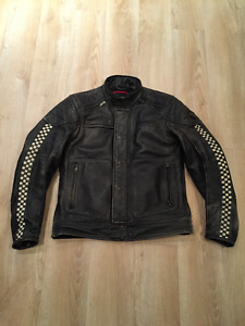 Men's Small Triumph Cafe Racer Armoured Leather Jacket