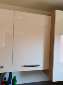 Moores Kitchens 500mm Wall unit Natural Oak Carcass Minocco Ivory Door