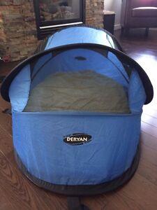 Pop up tent travel cot