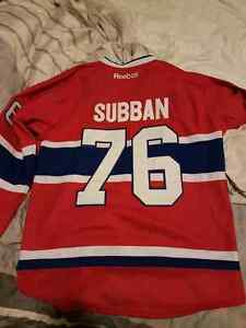 SUBBAN MONTREAL CANADIENS JERSEY - RED #76 - SZ 52