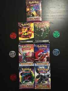Pokemon Trading Cards - 7 complete playable packs