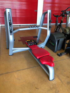 Technogym flat bench plate tree commercial gym equipment