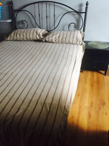 Queen bed with free Iron table