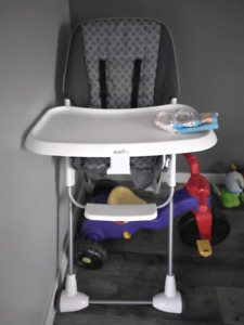 3 month old even flo high chair