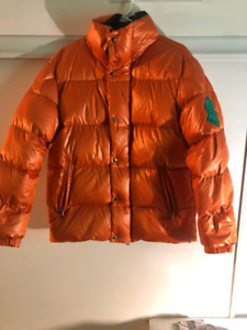 Moncler Genius 1952 Orange Dervaux Down Jacket Large
