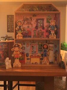 Wooden doll house and accessories-magnetic clothes Edmonton Edmonton Area image 1