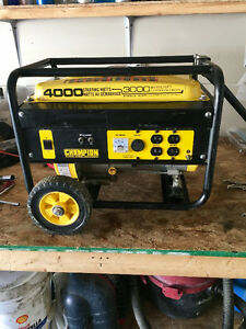 4000 watt champion gernerator. Like new!