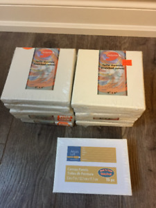 Art Supplies - 6x6 stretched canvas & 5x7 canvas panels
