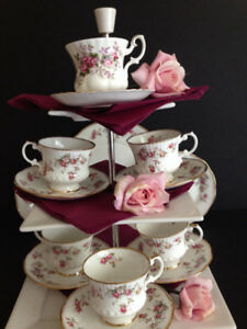FABULOUS TEA CUPS AND CAKE STANDS TO RENT FOR SPECIAL OCCASIONS