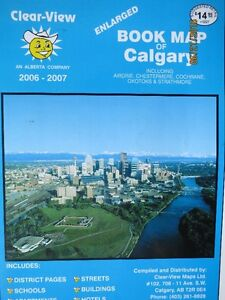 """Clear-View """"Enlarged Book Map of Calgary"""" most current year..."""