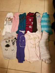 Girls size 6 long sleeve tops/sweaters
