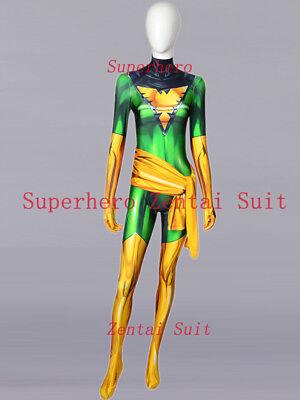 2018 X-men Phoenix Jean Grey Costume 3D Female Superhero Cosplay Zentai Suit