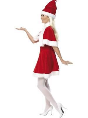MISS SANTA COSTUME  CAPE, CHRISTMAS FANCY DRESS, MEDIUM 12-14, WOMENS (Miss Santa Cape)