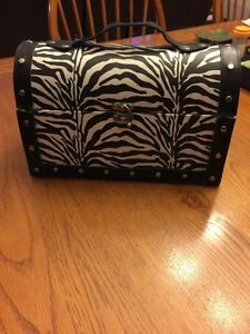 Zebra treasure box