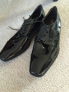 Marco Bossi black high gloss dress shoe sz 7
