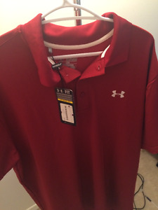 Mens Under Armour Polo - New with Tags